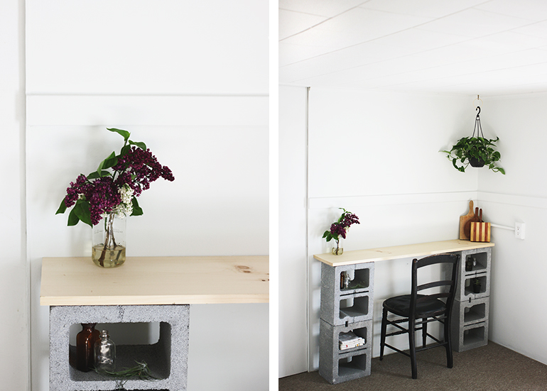 diy cinder block table the merrythought