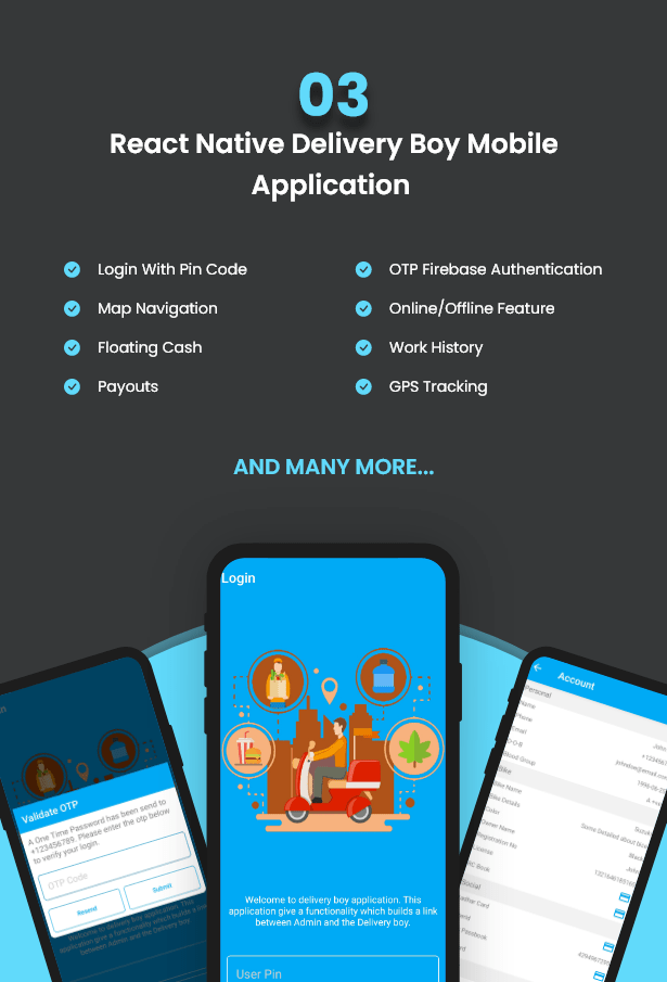 React Native Delivery Solution with Advance Website and CMS - 8