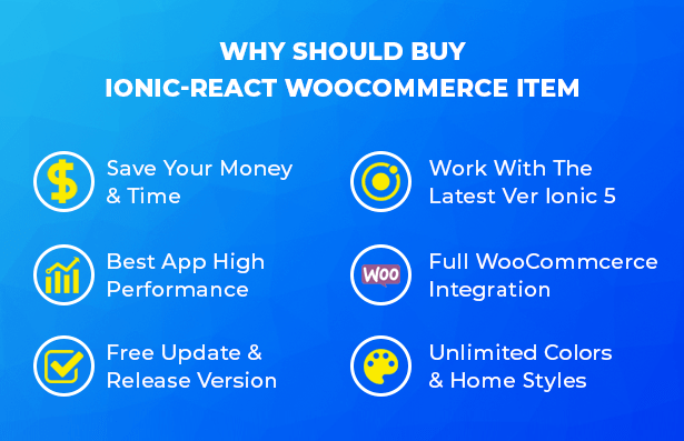 Ionic React Woocommerce - Universal Full Mobile App Solution for iOS & Android / WordPress Plugins - 17