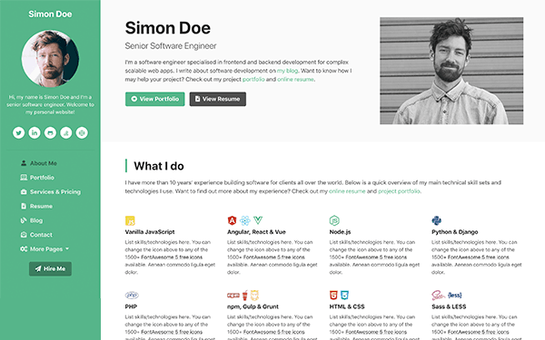 Having the navigation bar at the top is also another idea for you to consider. Ux Centred Bootstrap Templates Themes For Developers Ux Bootstrap