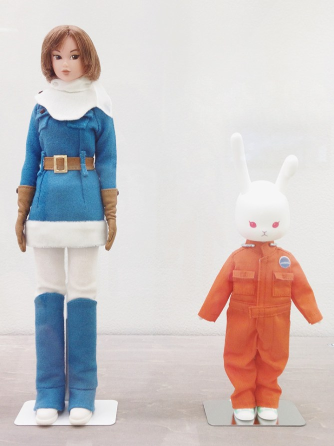Two little astronauts.