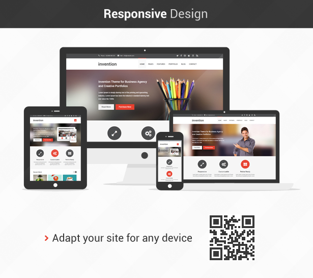 Invention - Responsive HTML5 Template - 4