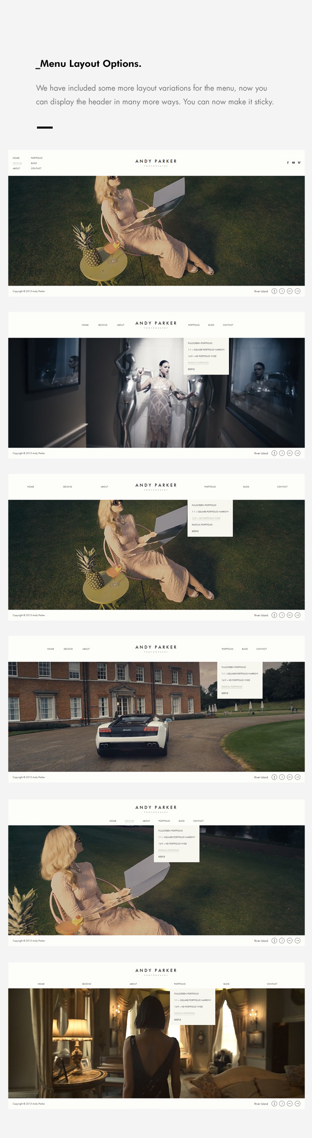 Andy Parker - Creative Photography & Portfolio WordPress Theme - 9