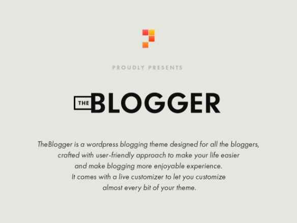 theblogger theme intro
