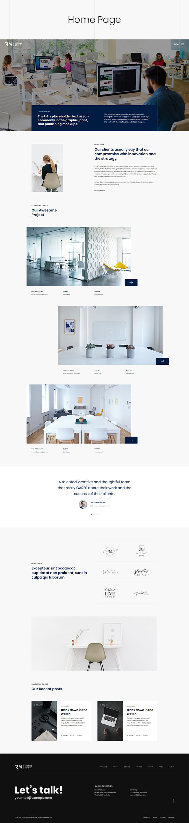 TheRN - Creative Agency React Gatsby Template - 2
