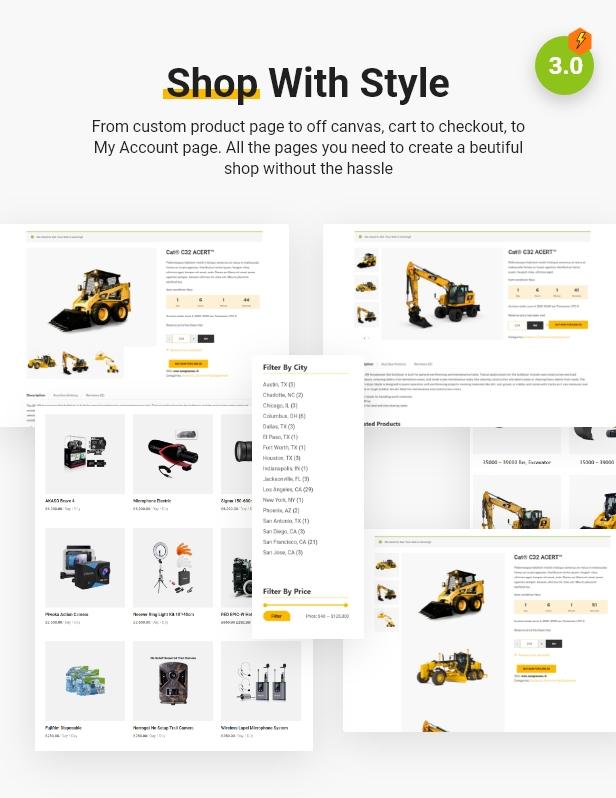 online shop Backhoe - Heavy, cameras & videos Equipment Rentals WordPress Theme