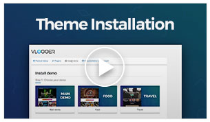 Vlogger - Theme Installation