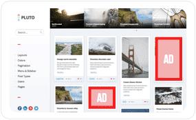Ads between posts