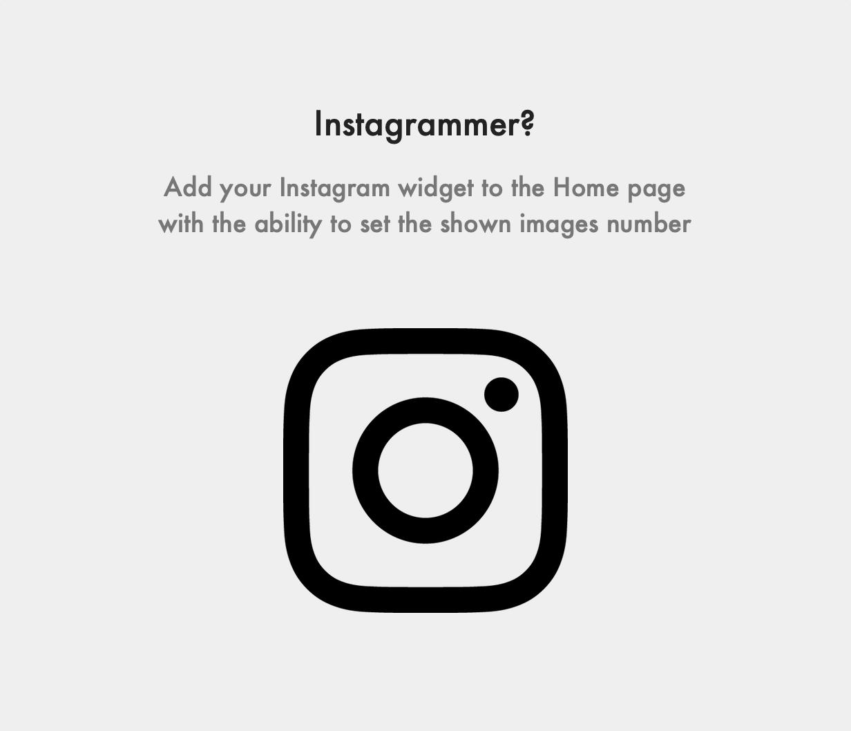 Sinai Ghost Theme Instagram User Feed Integration