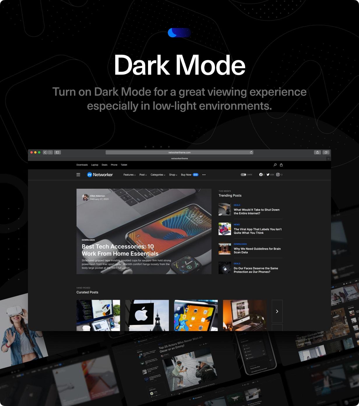 Networker - Tech News WordPress Theme with Dark Mode - 3