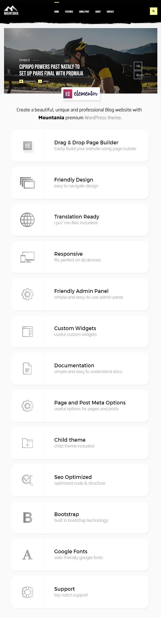 Mountania - Creative Blog WordPress Theme - 1