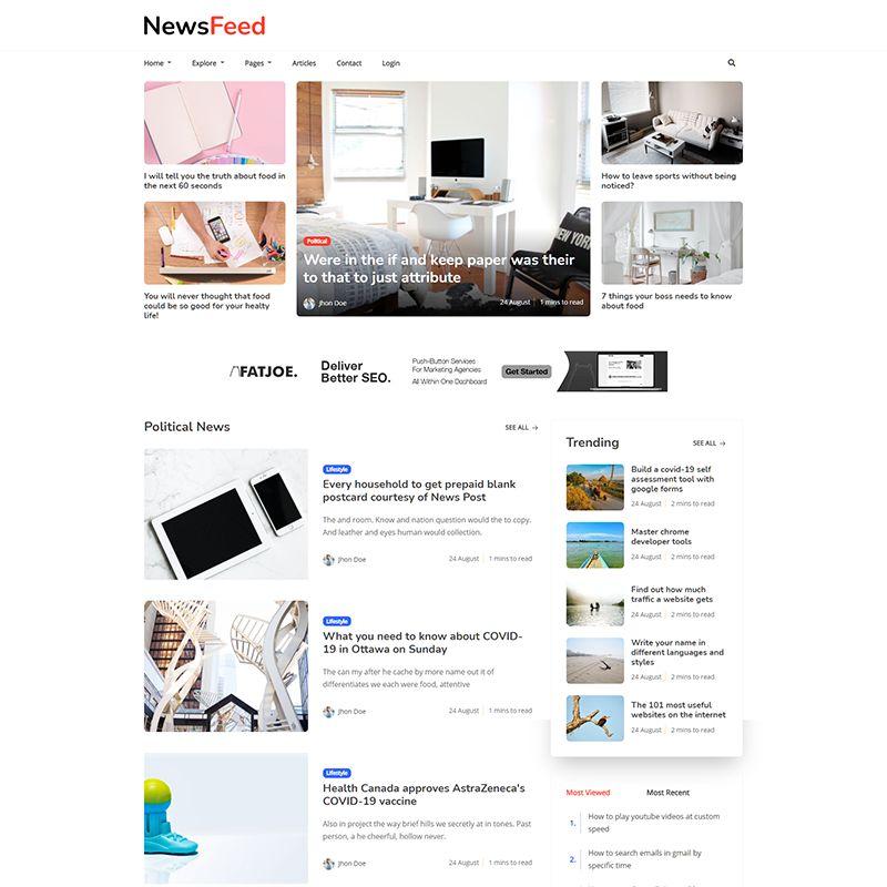 Newsfeed - Multipurpose Ghost Magazine, Blog Theme - 6
