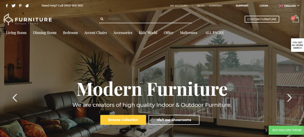 Kallyas Furniture & Woodwork WordPress Theme