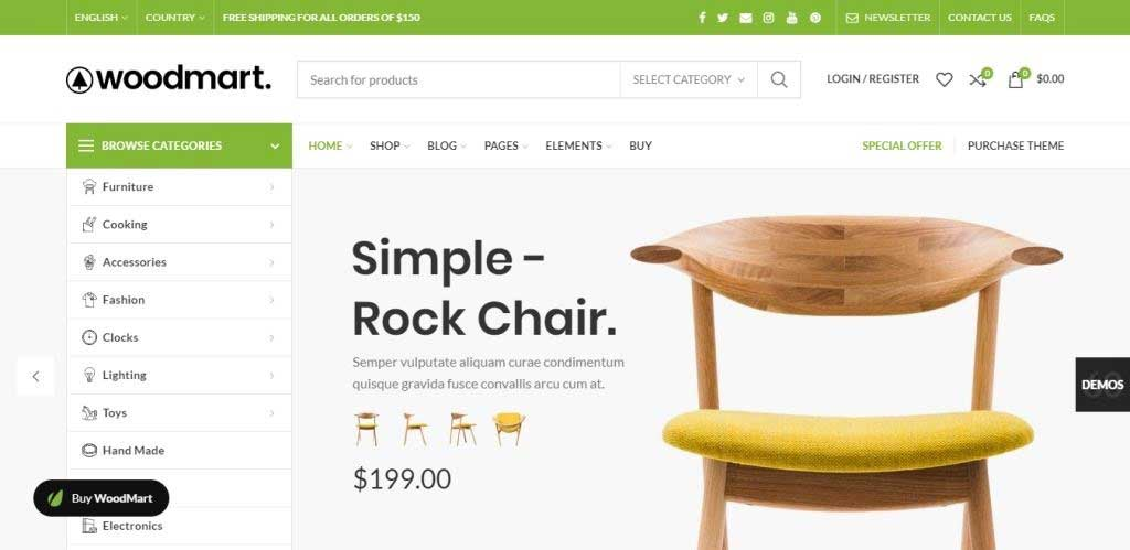 WoodMart Furniture & Woodwork WordPress Theme