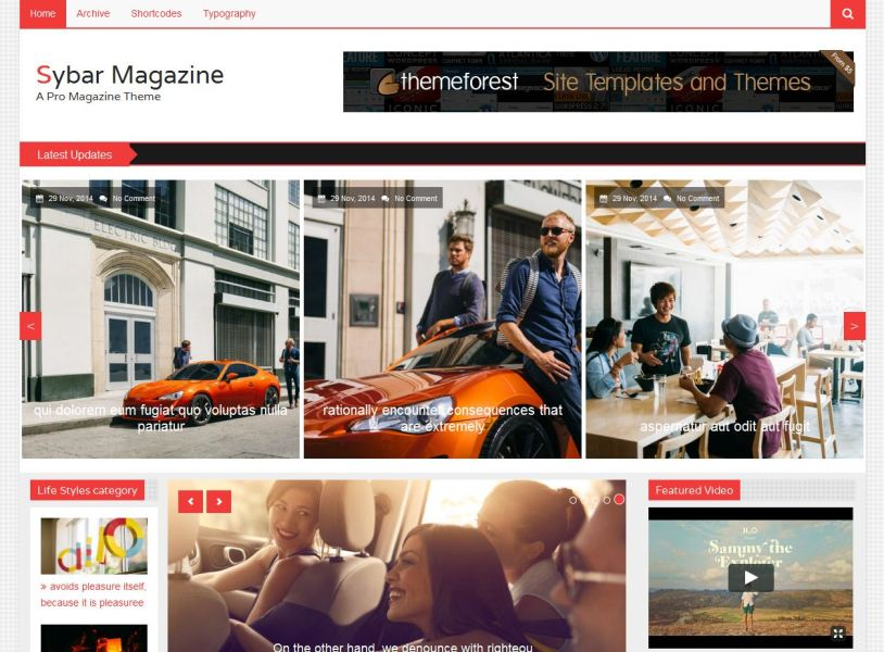 Sybar Magazine   Free templates Html5 for Magazine Website