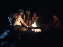 Chilling around the fire