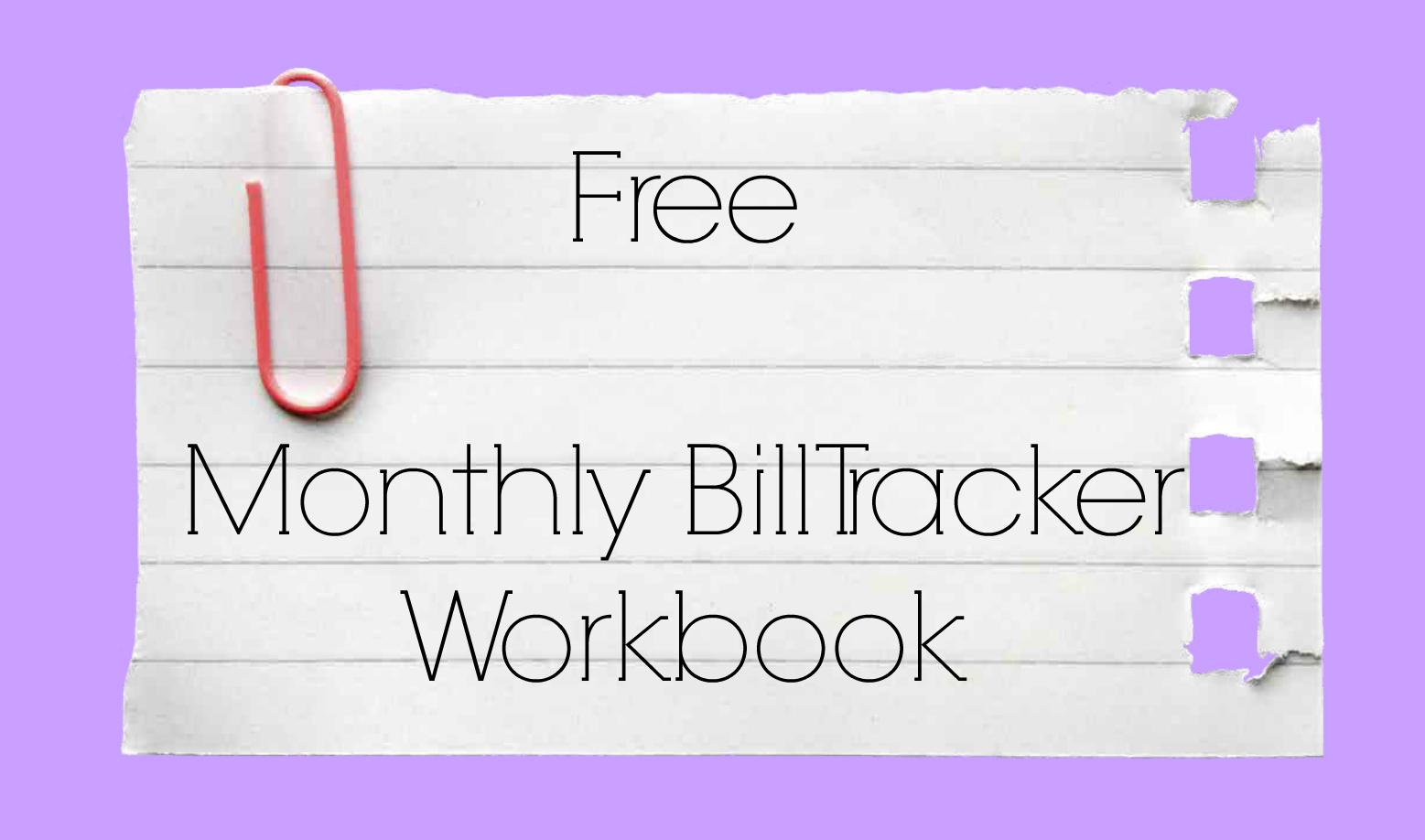 Free Monthly Bill Tracker The Messy Mum