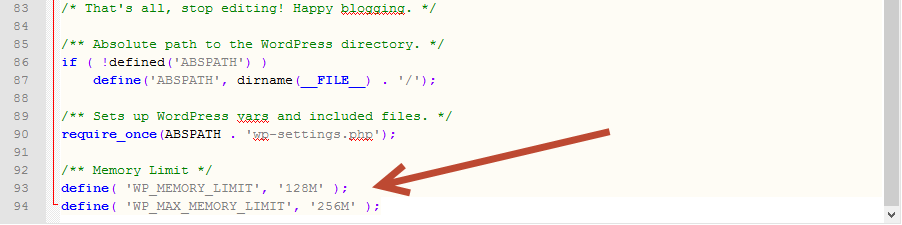 WordPress Memory Limit Issues