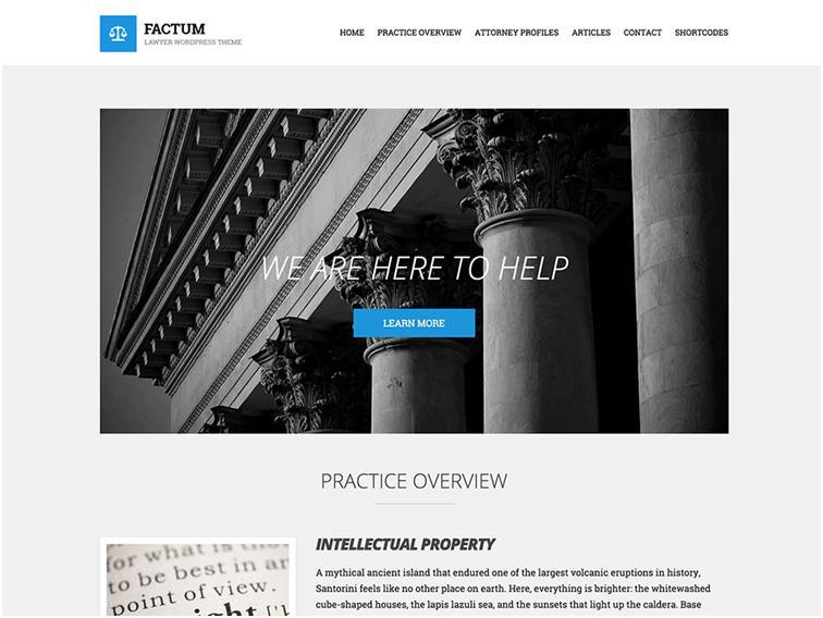 Factum WordPress Law Theme Development & Support