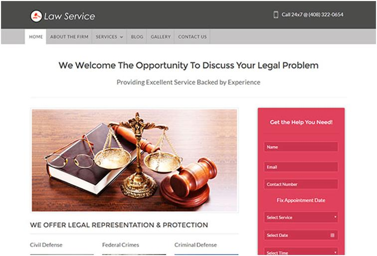 Law Service WordPress Law Theme Development & Support