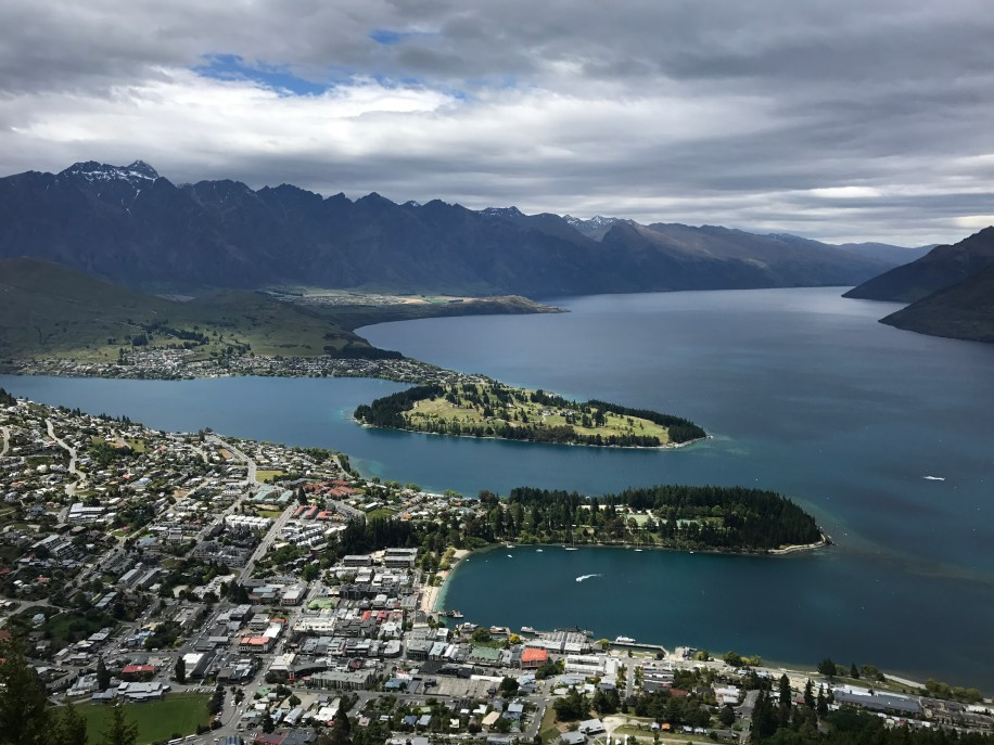 View of Queenstown from cable car