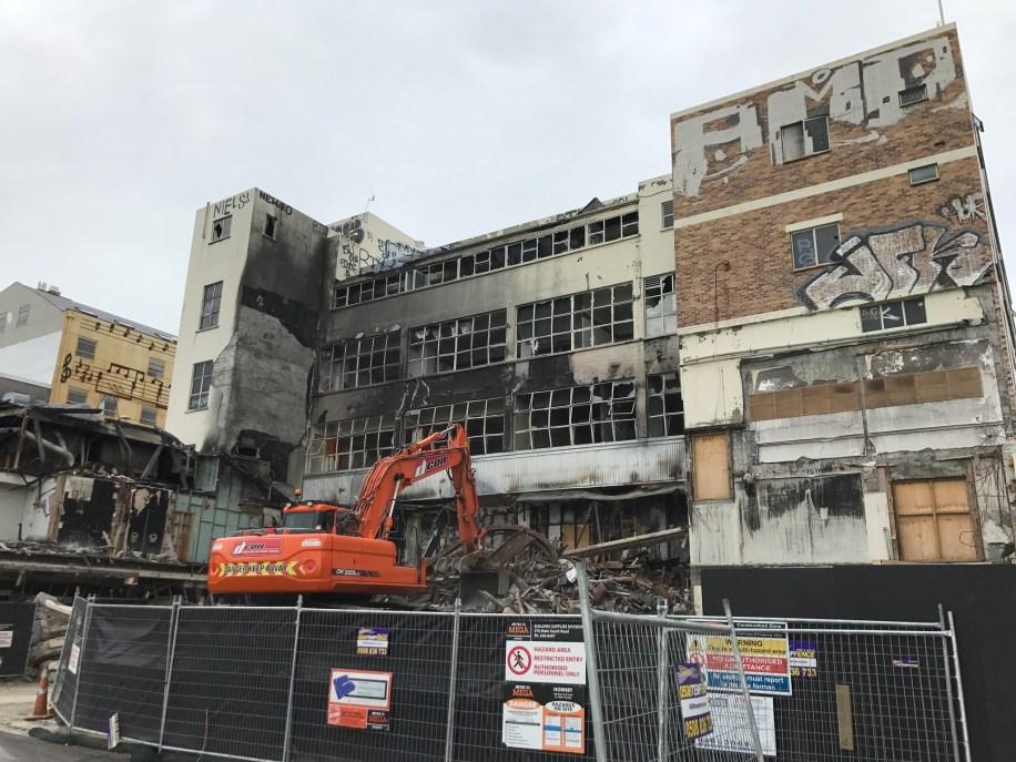 Building Demolition in Christchurch, New Zealand