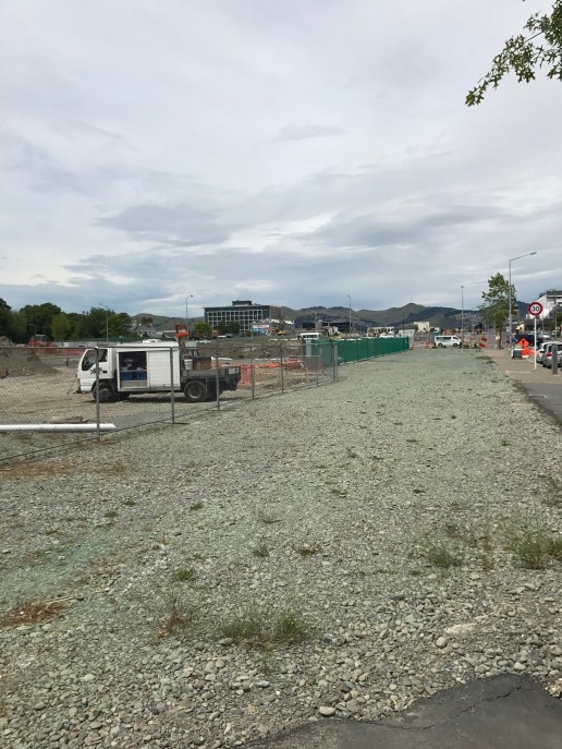 Flattened land in Christchurch