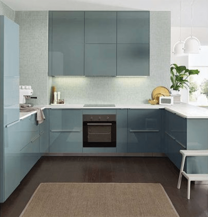 Kitchen Inspiration and Ideas: Ikea Kallarp Kitchen Turquoise