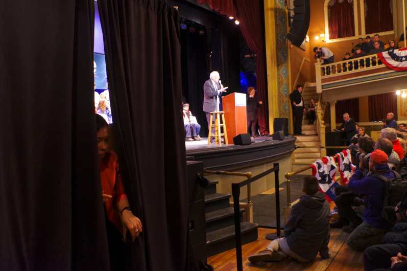 Bernie Sanders rally, Rochester Opera House, Ringe, New Hampshire on February 9, 2020.