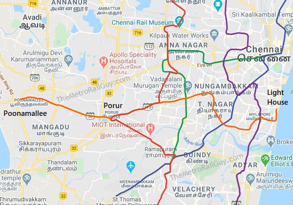 ChennaiMetroLine4RouteMap Kolkata Metro