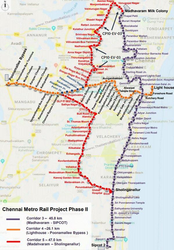 ChennaiCP10 EV 03RouteMap Kolkata Metro