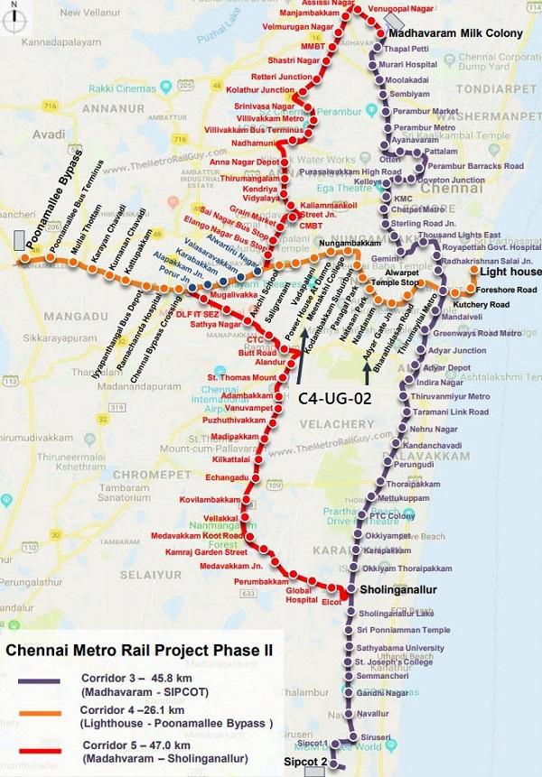 ChennaiMetroC4 UG 02MapNew Kolkata Metro