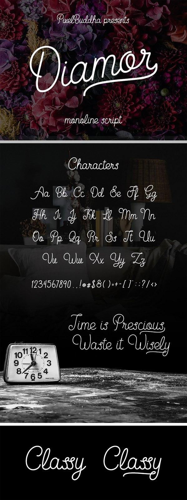 Diamor - Free Script Font