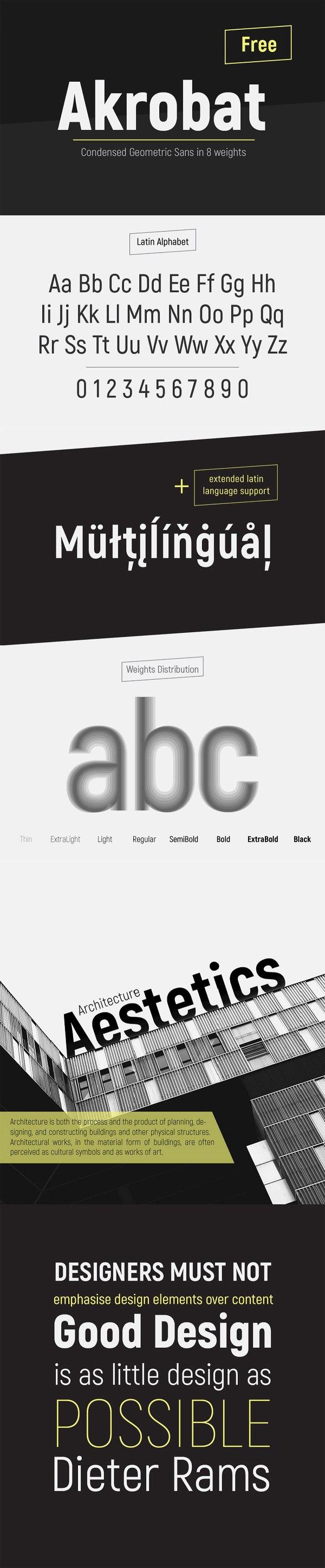 Akrobat - Modern sans-serif font family