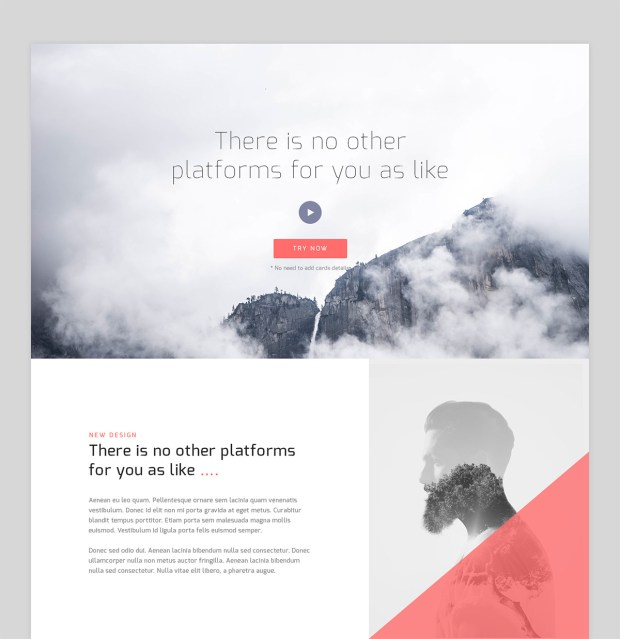 Free PSD Website Corporate Landing Page