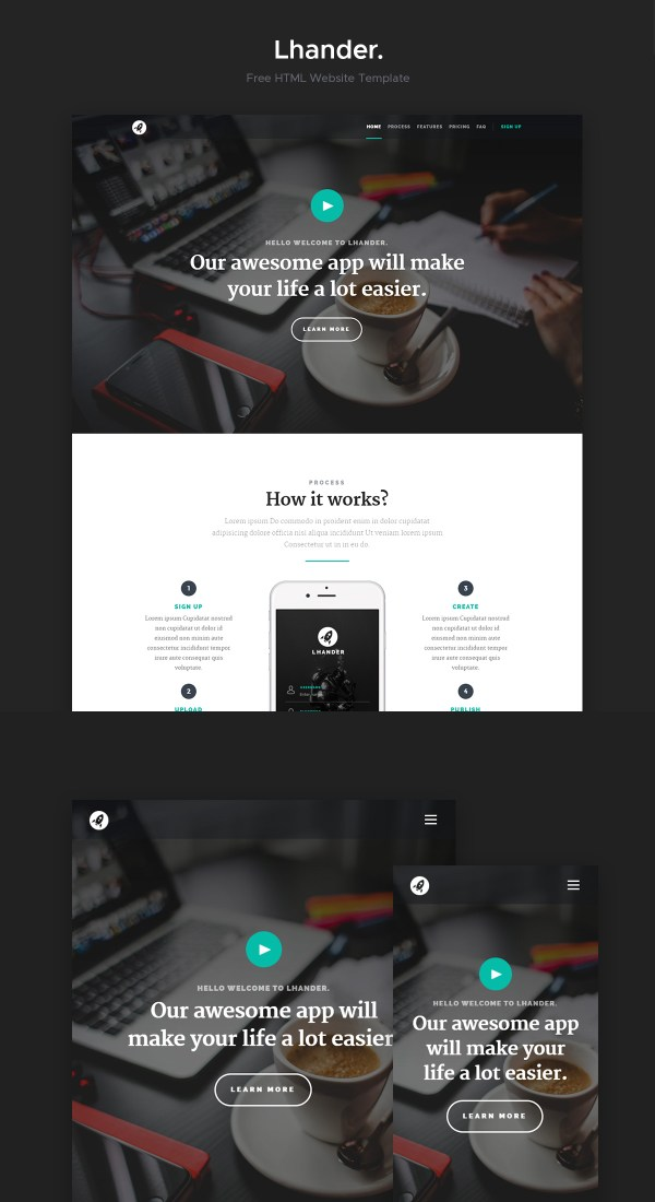 Lhander: Free Landing Page Website Template | Theme-UI