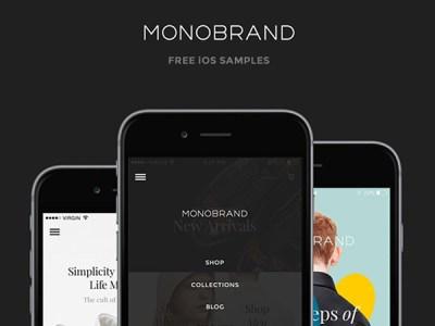 Monobrand iOS UI Kit - Free Sample