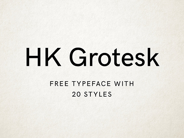 Free Font HK Grotesk Typeface