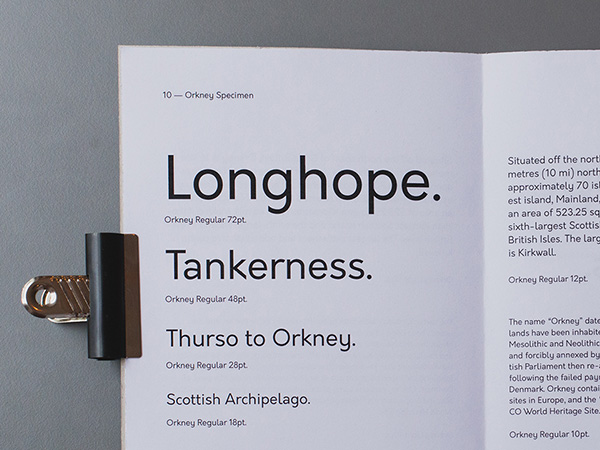 Orkney - An open source geometric typeface