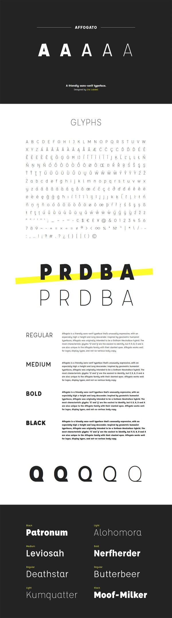 Affogato - Free sans-serif typeface
