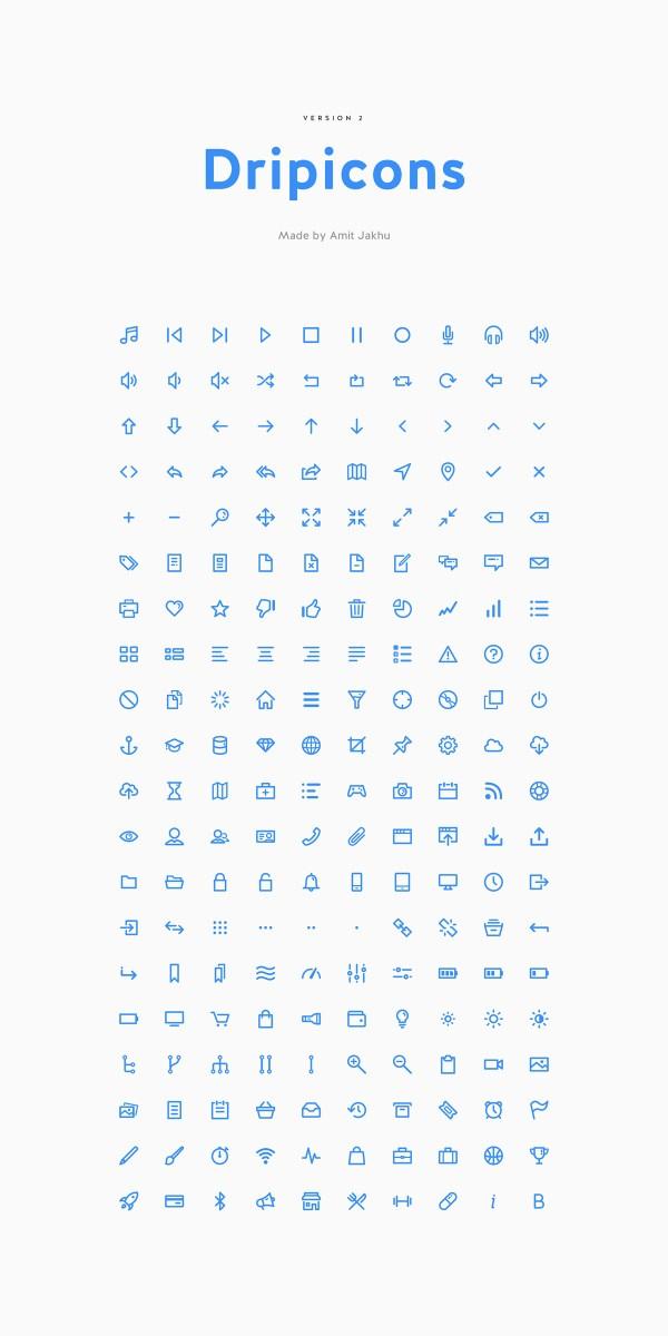 Dripicons v2: 200 Free Icons Plus Webfont