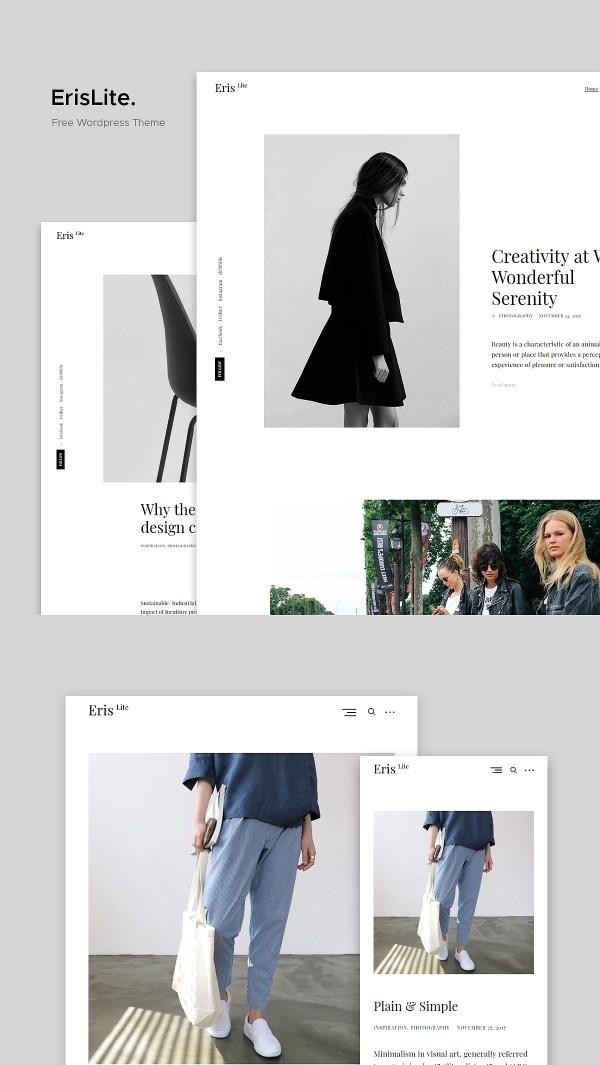 ErisLite: A Fast Free Minimalist Blog WordPress Theme