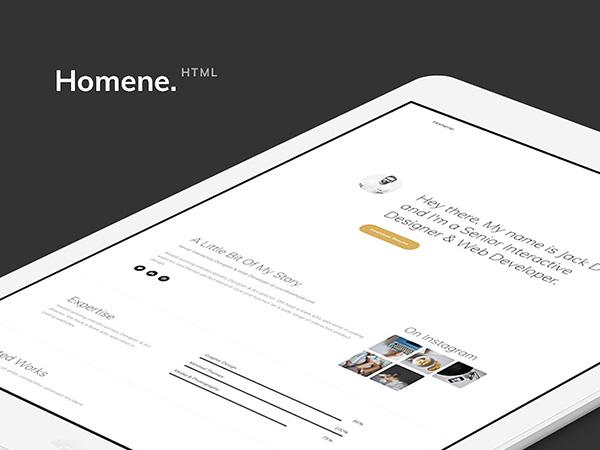 Homene Free HTML Website Template