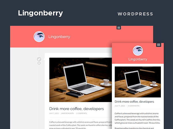 Lingonberry - A free clean Wordpress theme