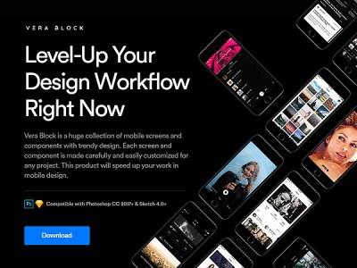 Vera Block: A Huge Set of Free UI Components and App Screens