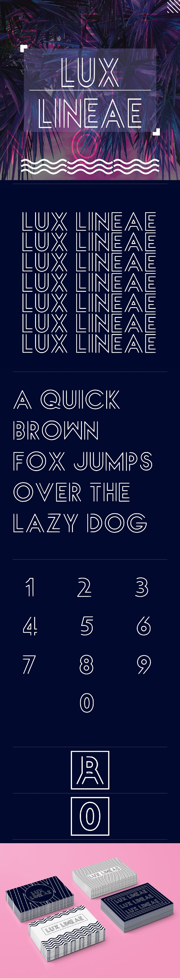Lux Lineae Free Display Font