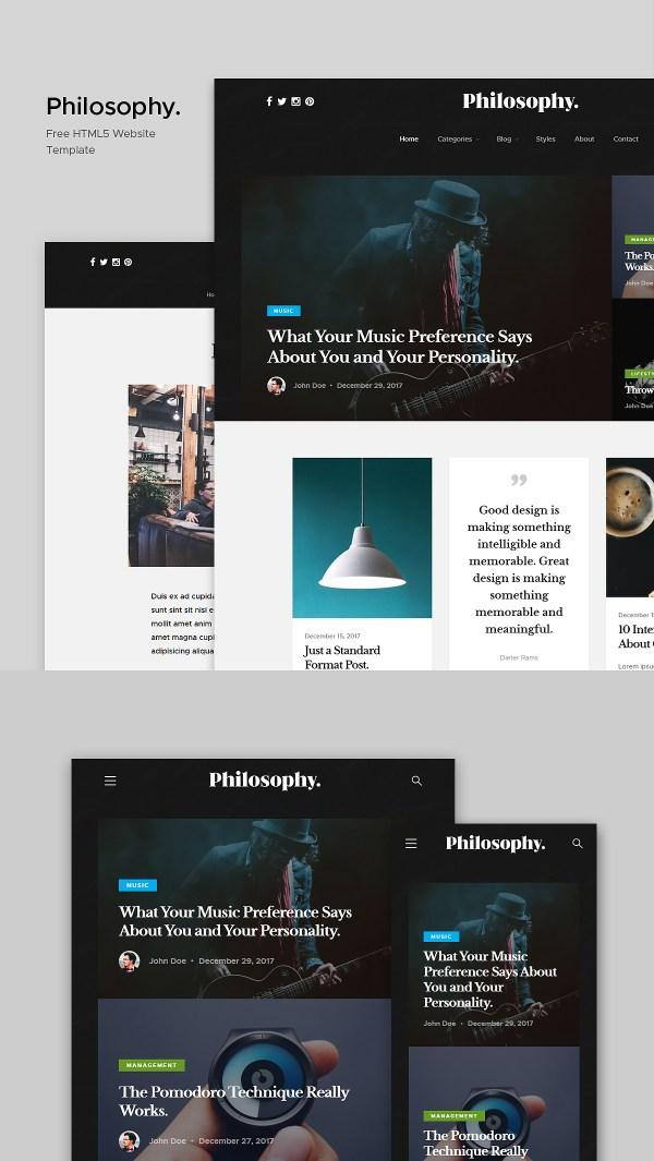 Philosophy - Free Blog Website Template