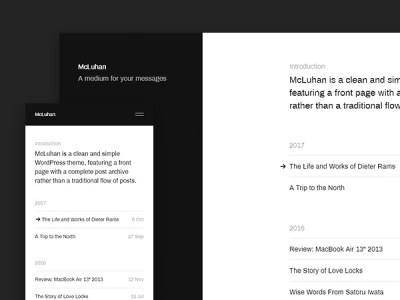 McLuhan - A Clean and Simple Free Wordpress Theme