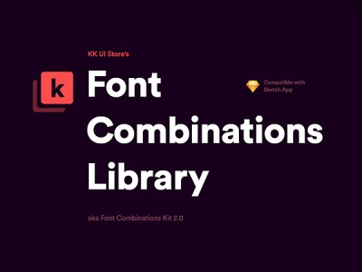 Font Combinations Library