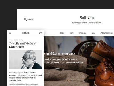 Sullivan - Free Wordpress Theme With WooCommerce Support